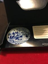 "Vintage Royal Copenhagen 2002 Blue/White Mini Plate 3.25"" New Wbox"
