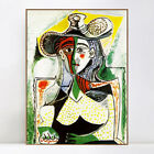 """Framed Canvas Giclee Print 1962 Femme au grand chapeau by Pablo Picasso 24""""x32"""""""
