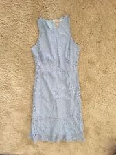 Lace Dress Light Blue Size 16 Midi Work Cocktailz Party Church Christening M