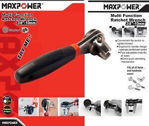 """3/8"""" Dr. Adjustable Ratchet Socket Wrench 6.35-22.2mm 38 Different Nut/Bolt Size"""