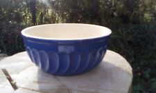 French vintage blue mixing bowl