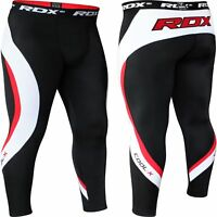 RDX Mens Compression Pants Tights Running Base Layers Skins Workout Fitness MMA