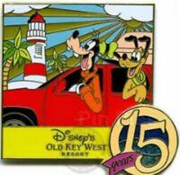 Disney Pin 49766 WDW Old Key West Resort 15th Anniversary Goofy Pluto Dog  LE