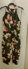 NEW Jayson Brunsdon Carla Khaki Halter neck Floral dress, size 14 RRP $ 229