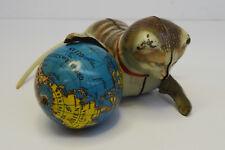 vintage toy 50s - Altes US Zone Blechspielzeug Köhler Katze mit Globus Weltkugel