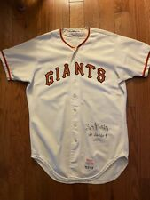 1975 SF GIANTS GARY MATTHEWS GAME USED WORN HOME AUTOGRAPHED WILSON JERSEY