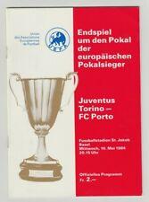 Orig.PRG   EC 2   1983/84  FINALE   JUVENTUS TURIN - FC PORTO  !!  RARITÄT