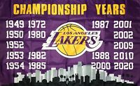 Los Angeles Lakers Flag 3x5 ft Sports NBA Banner Championship Years Man-Cave