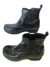 Dansko Vail Coated Black Canvas Rain Boots Women's #6603360200 Size 38 US 7.5-8