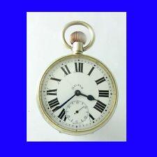 Rare WW1 London Silver Goliath 8-Day Patent Watch 1914