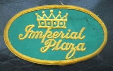 IMPERIAL PLAZA VINTAGE EMBROIDERED SEW ON ONLY PATCH ADVERTISING UNIFORM BADGE