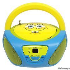 NICKELODEON SPONGEBOB SQUAREPANTS CHILD'S PORTABLE CD PLAYER BOOMBOX RADIONEW