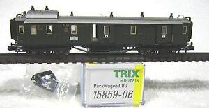MINITRIX 15859 -06 DRG bagagerijtuig 4 opengaande zijschuifdeuren kortkoppelinge