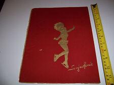 1947 PROGRAM / PLAYBILL- HOLLYWOOD ICE REVIEW - SONJA HENIE - VELVET COVER
