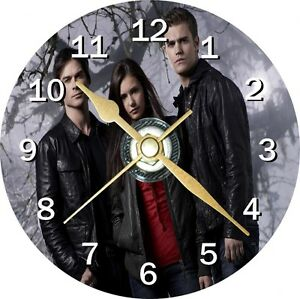 Vampire diaries 1 Novelty Cd Clock Can be personalised