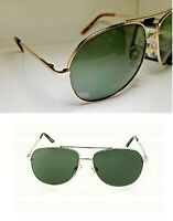 2 Pair Gold Foster Grant Pilot Sunglasses Quality Green Lens Colonel MSRP:$40