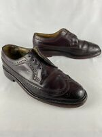 Florsheim Imperial shell cordovan Long wing Derby 8.5 D V Cleat 68 Nail Heal