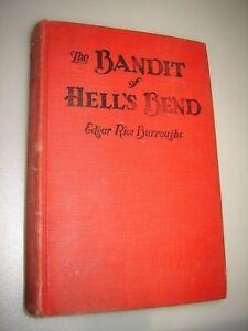 The BANDIT of HELL's BEND by Edgar Rice Burroughs 1925 HC no DJ Modest Stein ART