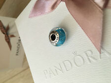 Pandora blue RRP £35  CHARM MURANO GLASS With Pandora Box genuine