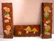 Magic Mushrooms Hippy Psychedelic Trip Vintage Wooden Wall Plaque Fungus Fun
