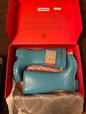 Hunter Original Glossy Tall Snow Rain Boots Glossy Blue EU 37 (U.S. 6.5 or 7)