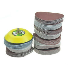 100pcs 3inch Mix Sander Disc Sanding/Polishing Pad Sandpaper + M6x1 Backer Plate