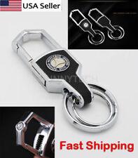 Universal New Auto Car Logo Emblem Key Chain Metal Alloy Leather For Mercedes