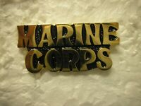 USMC HAT PIN -  MARINE CORPS SCRIPT