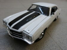 CHEVROLET CHEVELLE SS 454 LS6 1970 blanc noir limité ACME modèle de voiture 1:18
