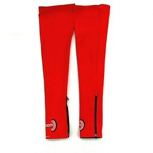 Primal Wear Cycling Thermal Leg Warmers Zippered Red Black Men's Size Large