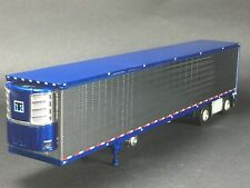 1/64 DCP CHROME/BLUE 53' UTILITY 3000R TRAILER W/ THERMO KING REEFER