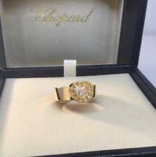 CHOPARD HAPPY DIAMONDS HEART YELLOW GOLD RING 82/2936 NEW! $3,940 RETAIL!!!