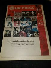 U2 Achtung Baby Rare Original Our Price Uk Promo Poster Ad Framed! #2