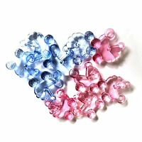 20 x Baby Mix Pram Buggy Charms, Plastic Charms Baby Shower, Dummy Clips