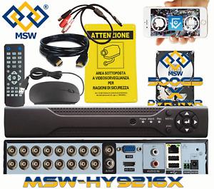 DVR NVR 16 Canali con HD 500GB 5MP 3MP 1080P IP Sistema di Videosorveglianza P2P
