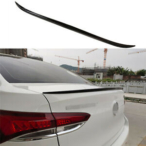 Universal Car Rear Roof Lip Spoiler Tail Trunk Wing Sticker PU Gloss Black 125cm