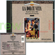 "NINO ROTA ""LA DOLCE VITA"" RARO OST CD 1991 - PEREZ PRADO FELLINI SAVINA"