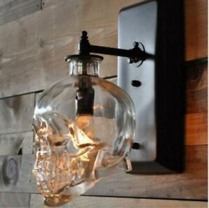 American Glass Skull Bar Club Wall Lamps Loft Retro Balcony Corridor Wall Sconce