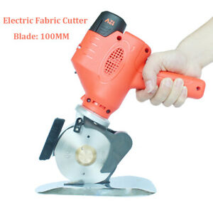100mm Blade Cloth Leather Cutter Fabric Round Cutting Machine Scissors w/Battery
