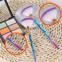 Soft Makeup Cosmetic Brush Blending Fan Shape Highlighter Facial Powder Brush AU
