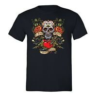 Mens La Amor Mata Sugar Skull Day of the Dead Dia de los Muertos Mexican T-Shirt