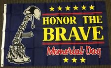 3x5 Honor The Brave Memorial Day Flag Holiday Honoring Fallen Military Veterans