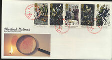 Sherlock Holmes UK #1515-1520 Set of 5 Commems on Cacheted First Day Cover