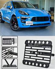 For 14-Up Porsche Macan Front Bumper Tow Hook License Plate Relocator Bracket
