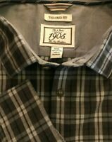 Men's Jos. A. Bank 2XL Shirt Button Front Plaid Long Sleeve Tailored Fit XXL