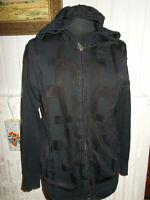 Pull zip gilet coton/acétate noir DIESEL M 38/40 Capuche