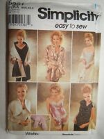 Camisole Tap Pants Shrug Robe Wrap Simplicity Sewing Pattern XXS XS S 9961 UC FF