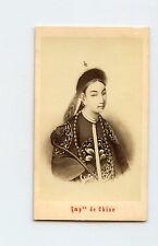 "China 1860 Studio Photo on Card  ""CiXi Empress"" By Neurdein EXTREME RARE"