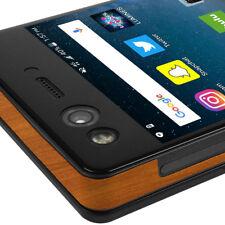 Skinomi TechSkin - Light Wood Skin & Screen Protector for ZTE Axon M