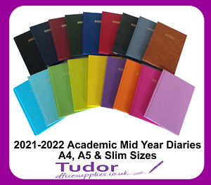Academic Diary 2021 2022 Mid Year A4 A5 Slim Week to View Day a Page Asst Colour
